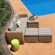 Mega Sale on All Weather Wicker Sofa Set